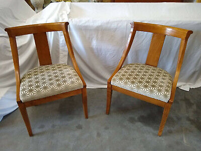Pair of Vintage English Ash Bentwood Barrelback Accent Side Chairs Refinished