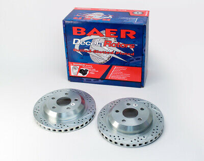 Performance Slotted And Drilled Rotors Pair BAER BRAKES 55050-020