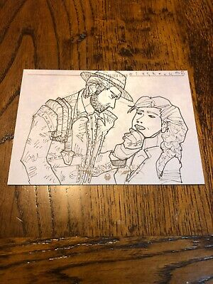 Indiana Jones Masterpieces (topps) Panoramic Sketch Card By Kate Glasheen