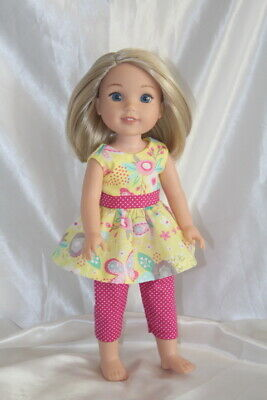 Dress Outfit fits 14inch American Girl Wellie Wishers Doll Clothes Lot Pants