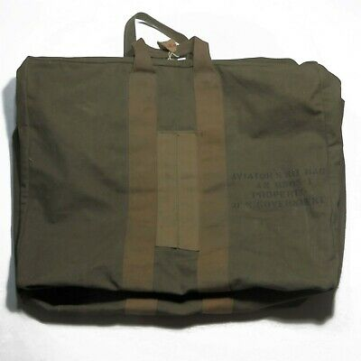 Vtg WWII Aviator's Kit Bag AN 6505-1 World War II Pilot US Army Air Corps