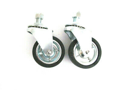 """Solution #36 Surface Cleaner Replacement  PAIR of 3"""" Front Castors with Locknut"""