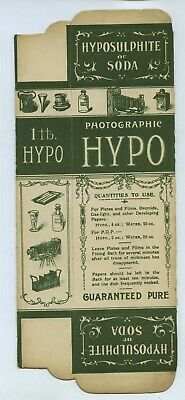Card Box For Photographic Hypo c1900s By Heathcote