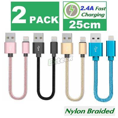 2x USB Lightning Charging Cable Data for Genuine Apple Charger iPhone iPad 6 8 7