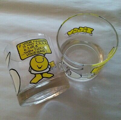 Lot of 2 ziggy glass cup