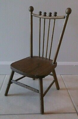 Antique Victorian Early 1900's Wood Child's Chair
