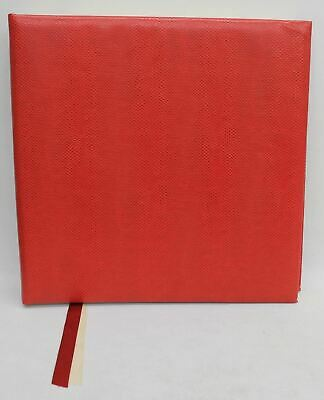 Fotoalbums en foto's opbergen Red A4 Dry Mount Photo Album Leather Look Wirebound Memory Souvenir Journal Book