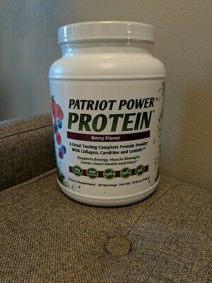Patriot Power Protein Berry Flavor  30 Servings Brand New Sealed FAST FREE SHIP