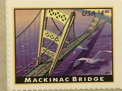 US 4438 $4.90 MACKINAC BRIDGE single MNH