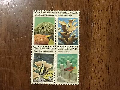 US 1827-1830, CORAL REEFS block of 4 MNH