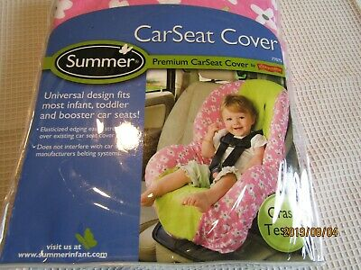 Summer by Kiddopotamus Infant CarSeat Cover Floral Pink White and Sage NEW V