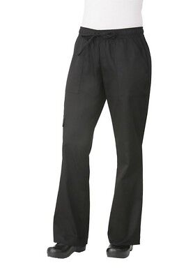 Chef Works Womens Black Cargo Chef Pant Hotel Restaurant Cafe Kitchen CPWO-BLK