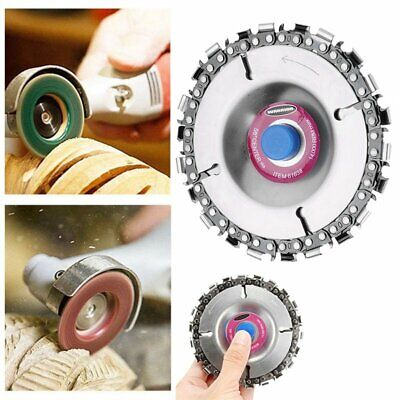 """4"""" 22 Tooth Grinder Chain Disc Wood Carving Disc For 100mm 115mm Angle Grinder"""