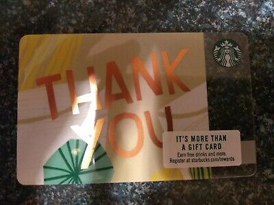 Collectable Starbucks Thank You Yellow Gift Card 6156..No Monatary Value