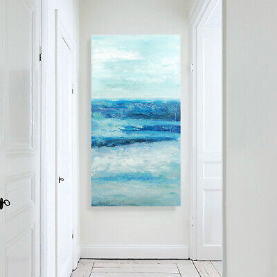 Modern Abstract Art Canvas Oil Painting Hand Painted Home Decor Framed Seaside
