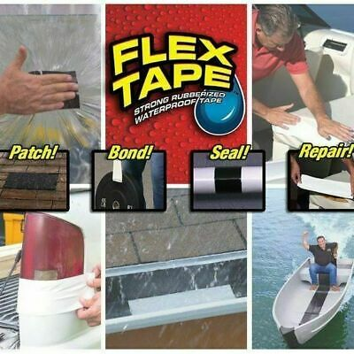 """Flex 4"""" x 5' Super Strong Rubber Waterproof Adhesive Sealant Patch Leaks Tape"""
