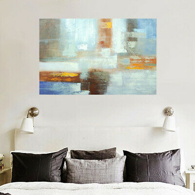 Modern Wall Art Abstract Oil Painting Handmade Stretched On Canvas (Framed)