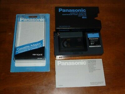 Panasonic VW-TCA7E SVHS Cassette Adaptor, in Package, with manual, works VHSC