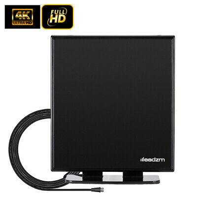 LEADZM 100 Mile Indoor Digital HDTV TV Antenna Aerial 1080p 4K with Stand Base