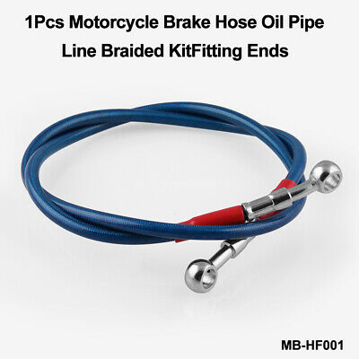DEFENDER PLUS 2 BRAIDED BRAKE HOSE SET 50MM BLUE 2004 on NON ABS TF605XTL