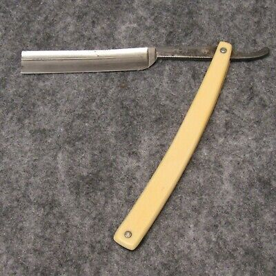 "W. R. Case & Sons Bradford PA 6"" Straight Razor No. 174 Ivory Celluloid Handles"