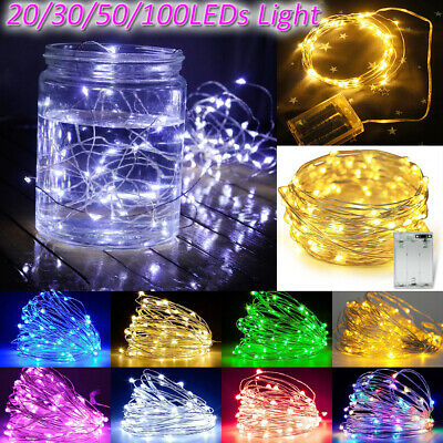 Fairy Lights Battery Operated Micro Warm/Cool White LED Silver Wire String Lamp