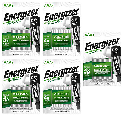 20 piles AAA ENERGIZER rechargeables Power Plus HR03 700 mAh