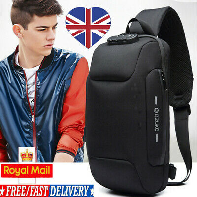 Anti-theft Backpack With 3-Digit Lock Travel Shoulder Bag Waterproof USB Charge