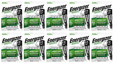 40 piles AAA ENERGIZER rechargeables Power Plus HR03 700 mAh