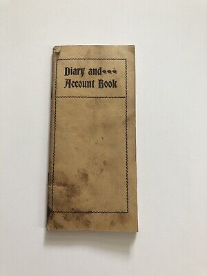 Very Rare Vintage Year 1900 Diary and Account Book Unused