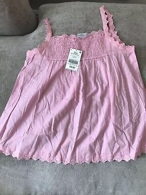 Brand New Girls NEXT Pink Smock Top Age 12