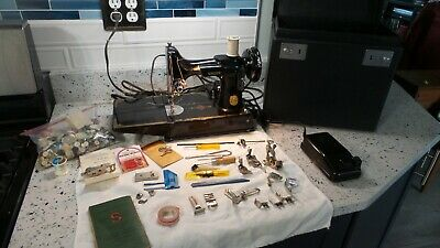 Vintage 1947 SINGER 221-1 Featherweight Sewing Machine New Plug & Tune UP EUC NR