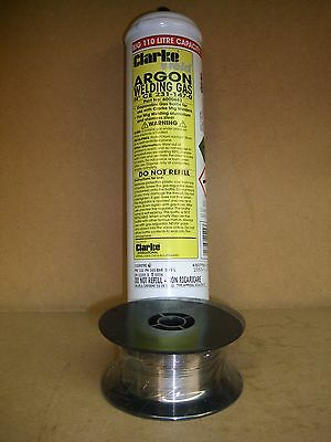 Argon 110 litre Welding Gas & 0.6mm x 0.7kg Stainless Steel Mig Wire