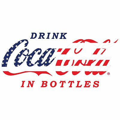 Drink Coca-Cola Stars and Stripes Decal 24 x 11 Patriotic Cut Out Kitchen Decor