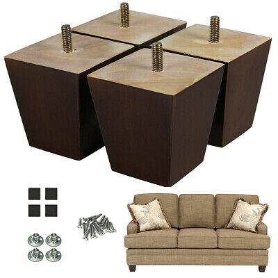 3\'\' WOODEN SOFA Legs Mid-century Furniture Legs For Couch Chair Ottoman  Loveseat