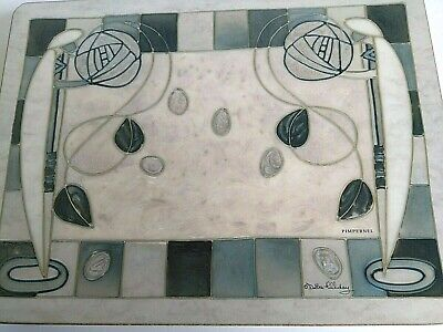 Pimpernel Rennie Mackintosh Style Grey Placemats x 6 Debbie Halliday unboxed