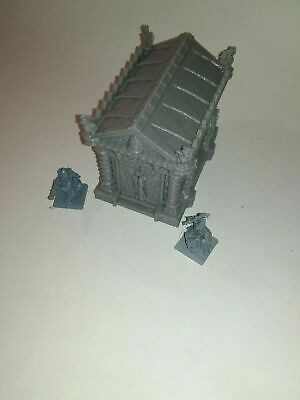 Warhammer fantasy cemetery scenery. Mausoleum terrain,tomb. AoS. vampire counts.