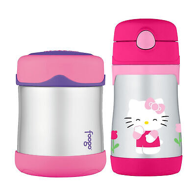Thermos Foogo Vacuum Insulated Stainless Steel Food Jar and Bottle - Hello Kitty