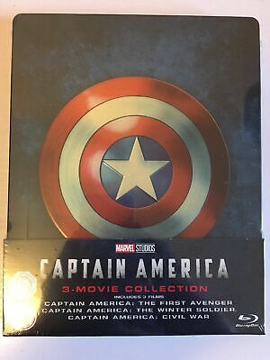 Captain America 1-3 Movie Collection Blu Ray Steelbook BRAND NEW AND SEALED