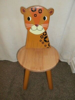John Crane 26 cm Wooden Leopard Animal Chair