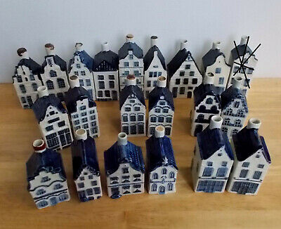 Choice of 4 KLM Rynbende Empty Delft Houses. See listing & pictures please