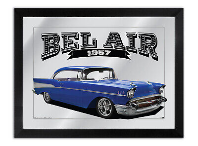 Bar Mirror Artwork Suit Red 1957 Chevrolet Bel Air Enthusiast Others Available