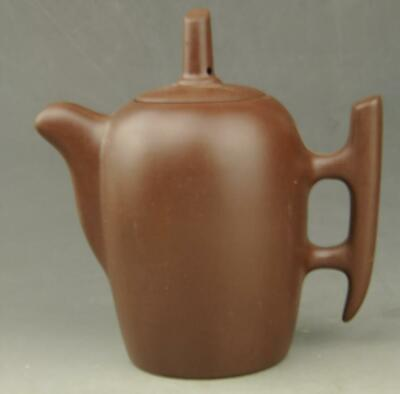 Chinese old Yixing purple sands hand-carved purple sands teapot b02
