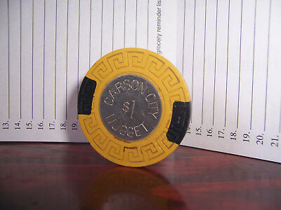 Carson City Nugget Casino Chips Large Key Coin Center $1 Chip