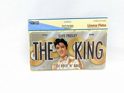 Elvis Presley The King of Rock and Roll Gold Records  License Plate sealed