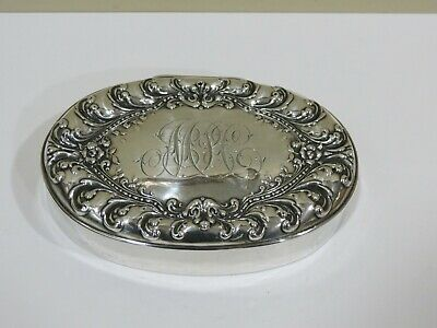 Antique Vintage Art Deco. Woodside Company Sterling Silver Vinaigrette