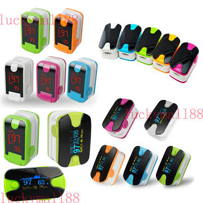 FDA Fingertip Pulse Oximeter SPO2 Heart Rate blood oxygen Saturation Monitor Set