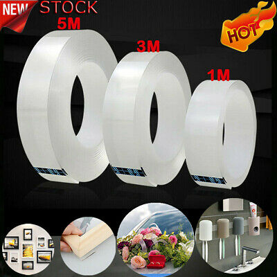 Magic Double-sided Tape Traceless Washable Adhesive Tape Nano Invisible Gel -hi