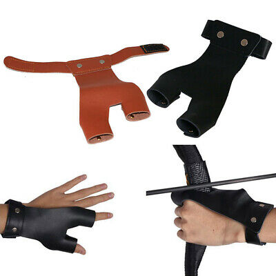 Archery Hand Guard Glove Finger Protector Traditional Shooting Glove Fits f S3B4