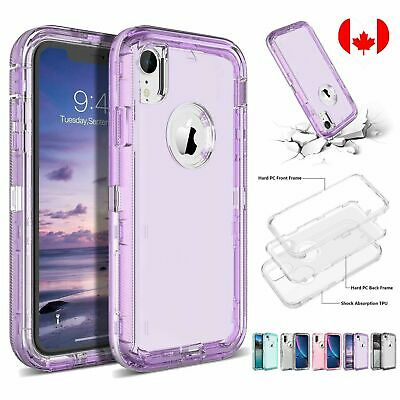 Clear Defender Case For iPhone X XR XS Max 6s 6 7 8 Plus Transparent Heavy Duty